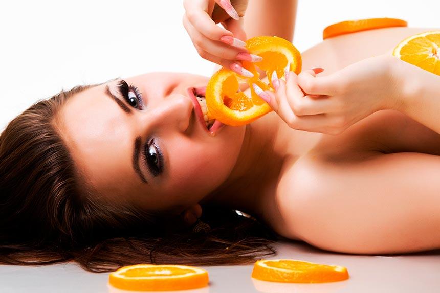 Эро Фото Сессия Апельсины